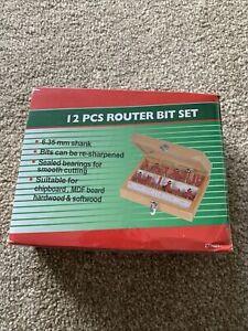 12 PCS Router Bit Set 6.35mm Shank
