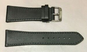 Pulsera Correa de Reloj Piel Legítima Cuero 26 mm Negro | Watchband 215