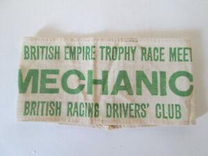 British Empire trophy armband. Motorsport armband. BRDC armband. Stirling Moss.