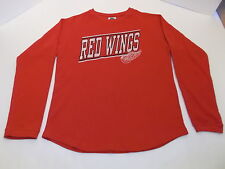 DETROIT REDWINGS LONG SLEEVE THERMO INSULATED SHIRT MEN'S M RED