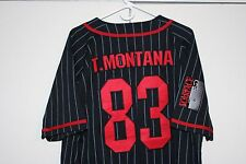 Scarface Tony Montana #83 Sewn Baseball Jersey Multi Black Red Men Medium Mafia