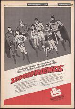 SUPER FRIENDS__Orig. 1982 Trade AD promo / poster__Wonder Woman_Superman_Batman