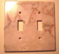 InterDesign 2 Gang Switch Wall Plate Wall Cover Marbled Plastic Marble Color