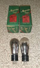 MATCH PAIR NOS IN ORIGINAL BOXES MAJESTIC UX-245  / 45 GLOBE TUBES