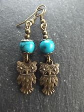 Turquoise Drop/Dangle Animals & Insects Costume Earrings