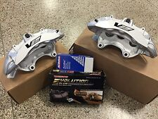 2009-12 Cadillac CTS-V Brembo Silver 6 Piston Front Calipers pads + pin kit ZL1