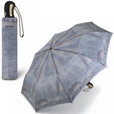 ESPRIT Regenschirm - Jeans-Design - Taschenschirm Teleskopschirm Mini Schirm NEU