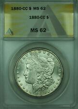 1880-CC Morgan Silver Dollar $1 Coin ANACS MS-62 (28)