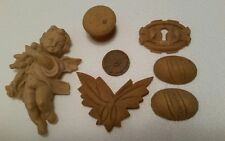 LOT OF COMPOSITION CARVINGS FURNITURE PARTS PIECES ~GREAT DETAIL!  (143H)