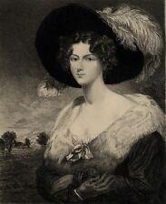 John Jackson Portrait Femme Elegante Restauration Mathilde Teyssonnières XIXe