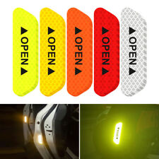 4pcs Reflector Sticker Door Open Warning Sign Safety Tape Decal Black Red Blue