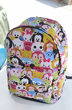 "disney tsum tsum mickey minnie canvas 15"" backpack packsack travelling bag bags"