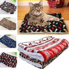 Thick Merry Christmas Cushion Warm Sleeping Pad Dog Blanket Cat Bed Pet Mat