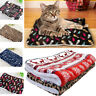 Thick Merry Christmas Cushion Warm Sleeping Pad Dog Blanket Cat Bed Pet Mat