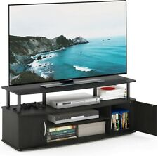 Tv Stand Console Cabinet Entertainment Center for TV Up to 50 Inch, Blackwood