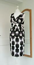 BODEN BLACK GREY DRESS COTTON ELASTANE SIZE 16 LONG BRAND NEW