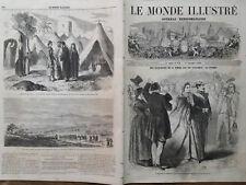 """LE MONDE ILLUSTRE 1860 N 179 """" L' EMPEREUR ET L' IMPERATRICE  A GRENOBLE (Isère)"""