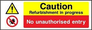 caution refurbishment in progress