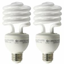 GE A19 3 Way CFL Spiral Light Bulb 16/25/32W 2700K 600/1600/2150lm E26 2 Pack