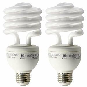 GE A19 3 Way CFL Spiral Light Bulb 16/25/32W 2700K 600/1600/2150lm E26 2 Pack