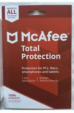 McAfee Total Protection 2019 ALL DEVICES YOU OWN - OFFICIAL RETAIL CARD Sealed