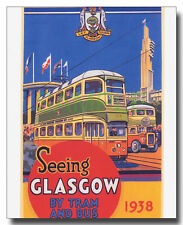 More details for glasgow coronation tram 1147 and leyland titan td5 cowies repro framed picture