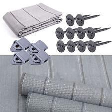 Arisol Vorzeltteppich Set 250x500 grau + Teppichclips + Zeltheringe für KIP