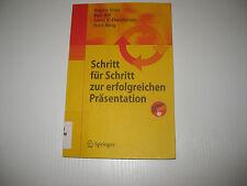 Schritt für Schritt zur erfolgreichen Präsentation von Brigitte Grass, Horst...