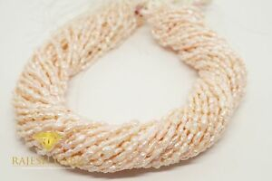 Japanische Biwa Perlen Strang / Kette Reisförmig ca. 3 - 7 mm / 41 cm  PL-006 RG