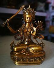 Man~jus/ri^ bodhi-sattva Manjushri Bronze Bodhisattva Kwan-yin Buddha Statue