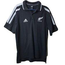 Adidas Men's Extra Large XL Polo Shirt All Blacks New Zealand