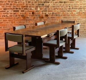 Gangso Mobler Rosewood Dining Table & Six Chairs Poul H. Poulsen Denmark