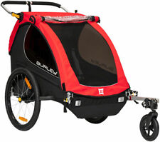 Burley Honey Bee 2 Seat Child Bicycle Trailer / Stroller Red