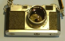 Vintage Nikon S2 35mm Slr Film Camera with Lenses, Viewfinder, Filters, and Bag