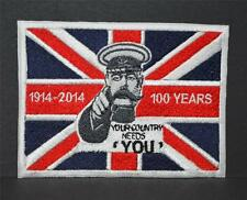 New Embroidered cloth badge -   Your Country Needs You 1914-2014  WW1 interest .
