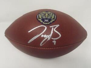 JOE BURROW Autographed LSU Tigers Nike Game Model Football FANATICS