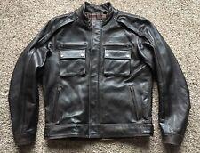 NWOT Harley Davidson Men's Large Brown Tactical Leather Jacket $499 retail
