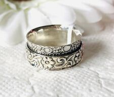 Artisan Crafted Thai 925 Sterling Silver Floral Ring Size O