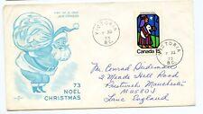 Canada FDC #628 Christmas Rare Victoria Cancel RoseCraft Shepherd G225