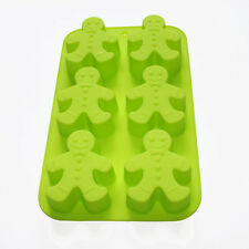 """Hot Silicone Christmas Snowman Chocolate Cake Soap Mold Mould 6 Cavity 10""""*6.3"""""""