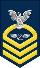 """Aviation Boatswain's Mate AB Navy Chief E-7 Gold 5.5"""" Rank Sticker / Decal"""