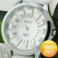 Steel Floral Dial Design Fashion Unisex Quartz Sports Wrist Watch Men Women gift