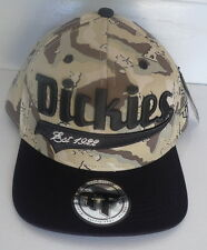 "Dickies ""Fort Worth"" High Front  -  Square Peak  - Snap Back  Cap- OSFM - Camo"