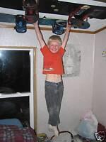 Free Shipping Black Snowboard Hanger Holder Display Ceiling Wall Rack Mount