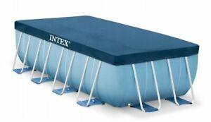 INTEX 28037 FRAME RECTANGULAR 400x200cm 13x6.5FT SWIMMING POOL SHEET STEEL COVER