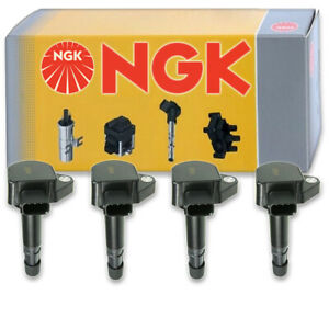 4 pcs NGK Ignition Coil for 2001-2005 Honda Civic 1.7L L4 - Spark Plug Tune rx