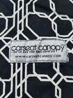 Car+seat+canopy+cover+black+white+geometric+design+button+tabs