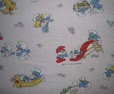 Schlümpfe Kinder Bettwäsche Bedding Duvet Fabric Schlumpf Smurf Puffi Smurfen