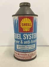Vintage Shell Fuel System Antifreeze Anti Freeze 12 Ounce Tin Can Metal Auto