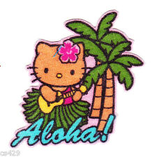 "2"" HELLO KITTY SANRIO STATE OF USA NEW HAWAII ALOHA  FABRIC APPLIQUE IRON ON"